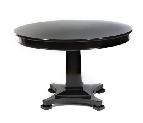 Black Lacquer Round Dining Table - Dining room ideas