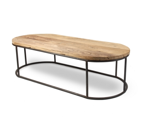 Reclaimed%20wood%20with%20rebar%20large%20oval%20coffee Large Wood Coffee Table Cfrentals Com Contemporary Furniture Rentals Tables